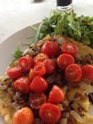 Mediteranean Socca and Tomato Confit