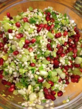 Quinoa, Edamame and Pomegranate Salad